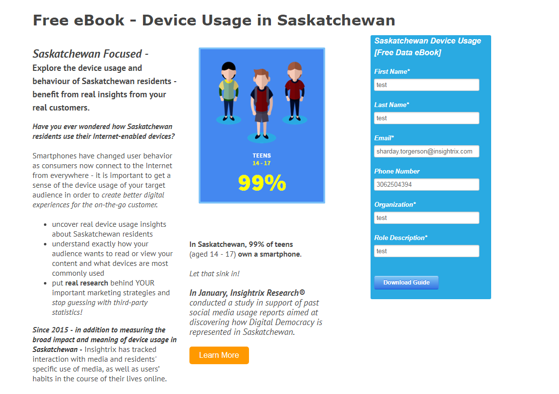 Insightrix - Market Research - Syndicated Reports - Saskatchewan - Sask