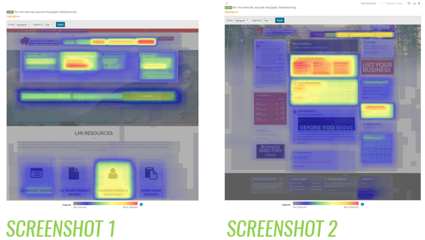 Website UX Testing, Website testing, heat mapping